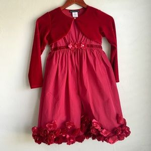 2pc Biscotti Red Dress from Chasing Fireflies 8